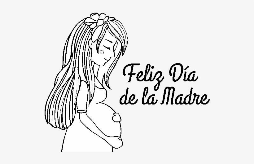 Dibujo De Mamá Embarazada En El Día De La Madre Para Dibujos Para El Dia De La Madre Transparent Png 600x470 Free Download On Nicepng