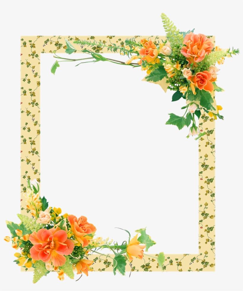 Bordes Y Marcos De Flores Gratis Flower Frames Transparent Png