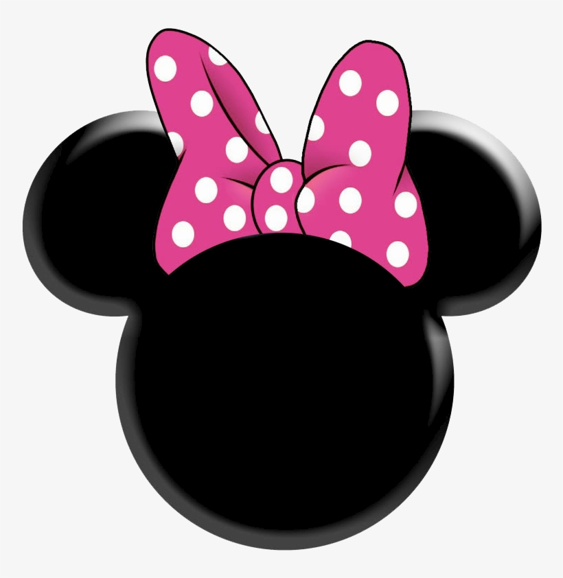Minnie mouse head. Ears clip art many