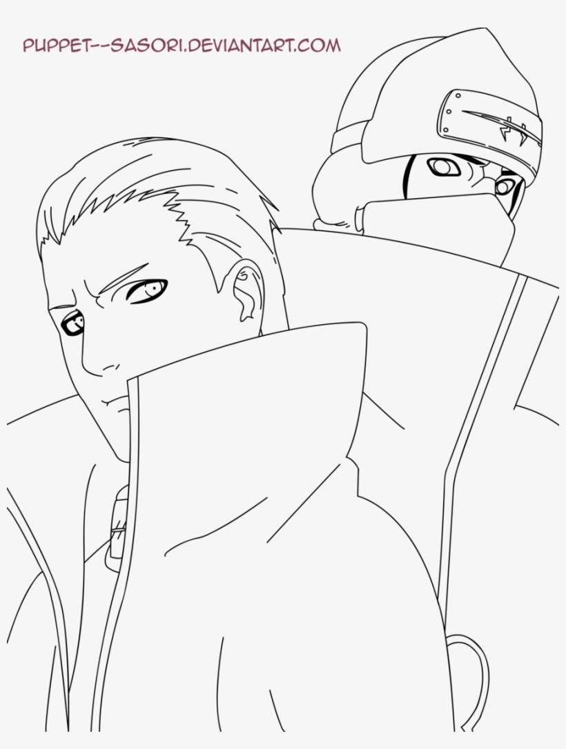 Hidan Akatsuki Drawing Kakuzu Naruto Para Colorear Transparent Png