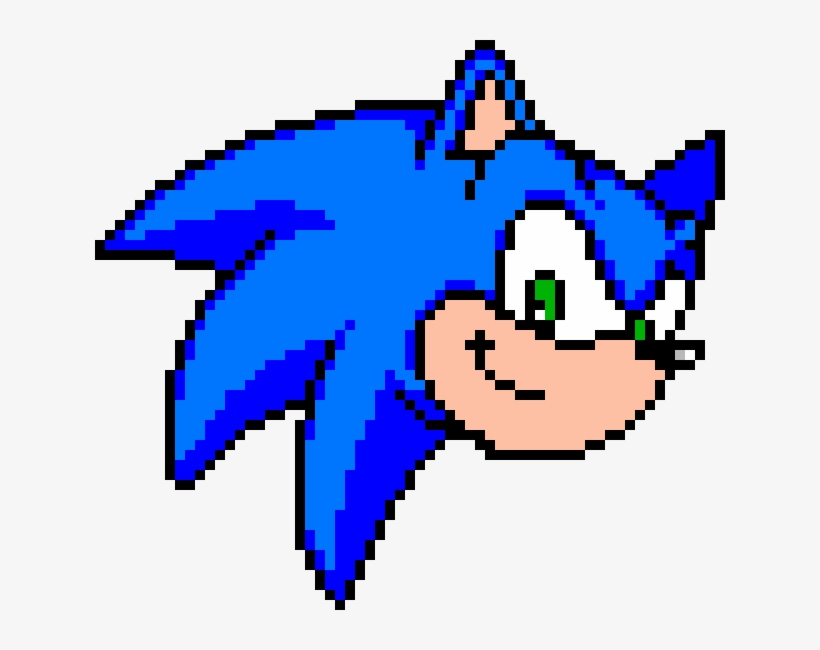 Sonic Face Sonic The Hedgehog 2 Pixel Art Transparent Png 630x570 Free Download On Nicepng