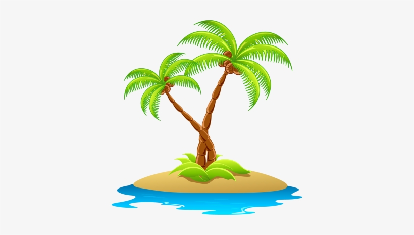 Wv Oasis - Island Clipart Transparent PNG - 378x385 - Free Download on NicePNG