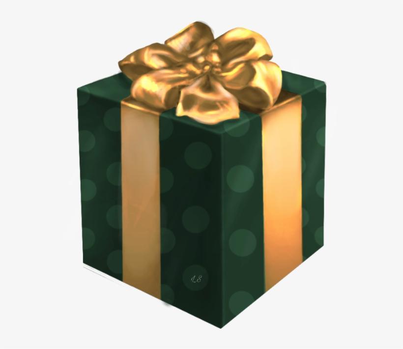 Gift Giftbox Box Christmas Happybirthday Green Gold Happy Birthday