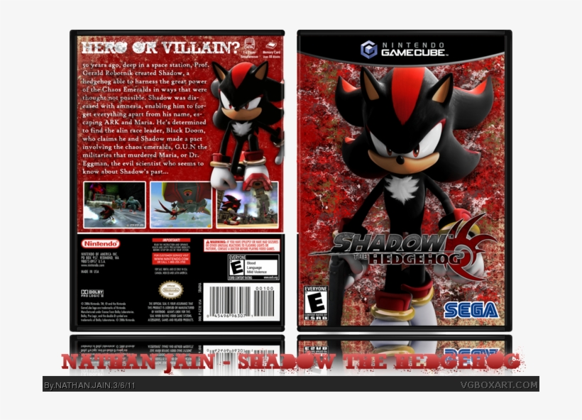 Shadow The Hedgehog Box Art Cover Sega Shadow Sonic Hedgehog Dog Tag Pendant Necklace Transparent Png 700x520 Free Download On Nicepng