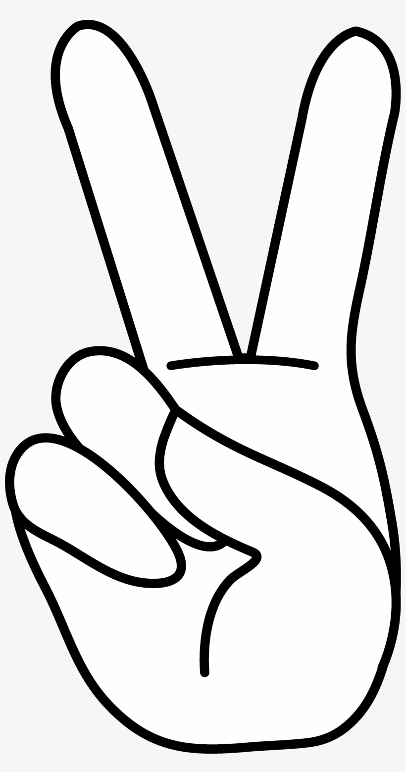 Peace Sign Clipart Transparent Background - Peace Hand Sign