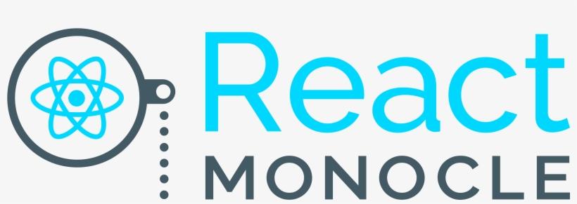 React Monocle Logo Transparent PNG - 4500x1500 - Free