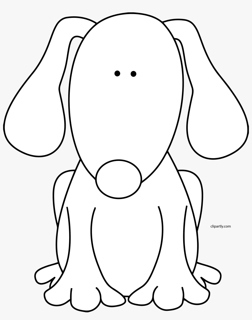 Black And White Dog For D Clip Art Cute Black And White Dog