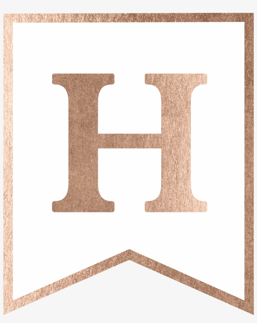 Rose Gold Banner Template Free Printable - Plywood Transparent PNG Within Free Letter Templates For Banners