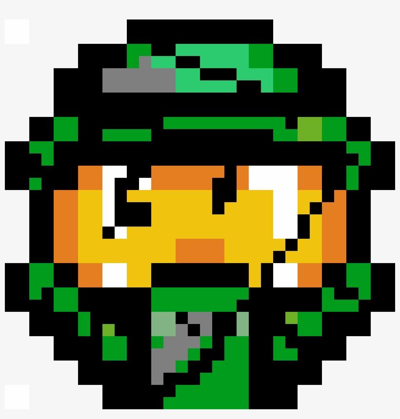 Broken Master Chief Helmet Pixel Art Halo Transparent Png