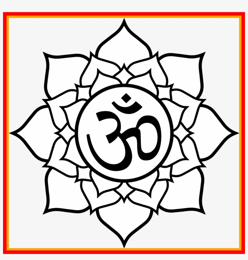 Fascinating Lotus Aum Om My Image Of Temple Clipart Coloring Pages