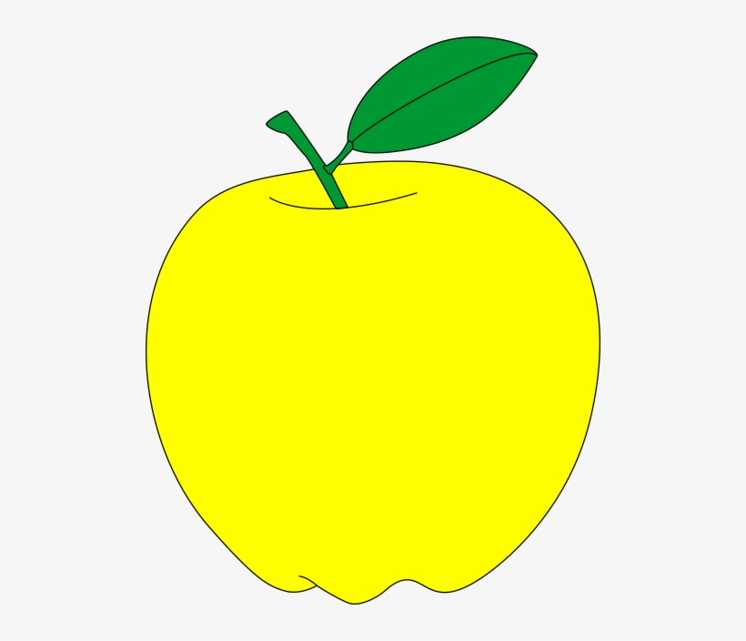 Apple yellow. With green leaf free