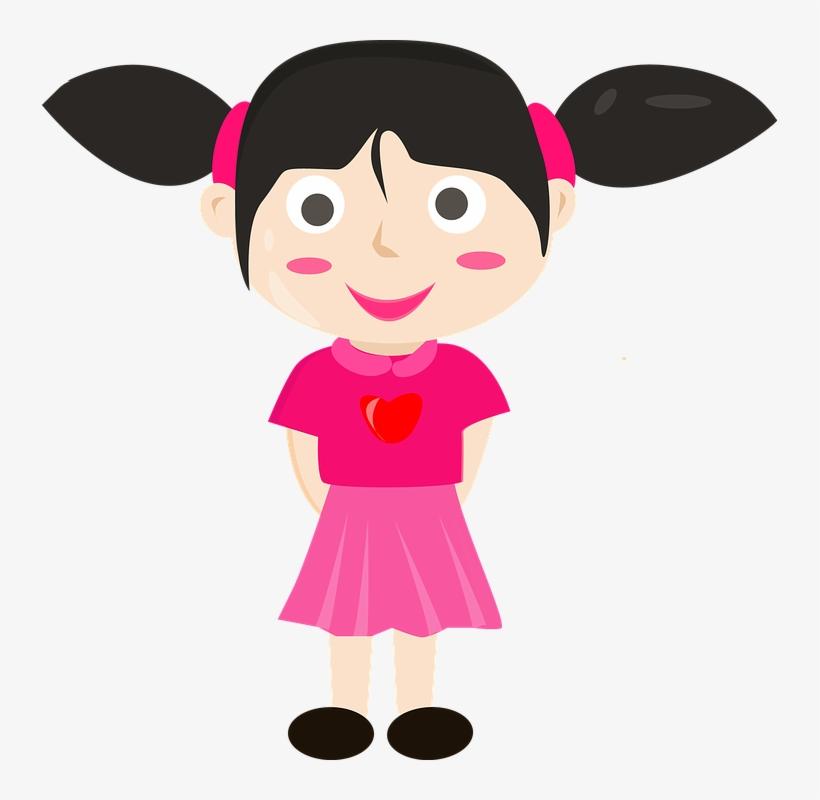 Lady Cartoon Vector Kids Gambar Vektor Anak Perempuan Transparent Png 735x720 Free Download On Nicepng