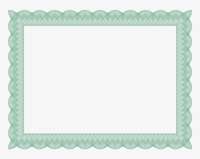Green Formal Certificate Border
