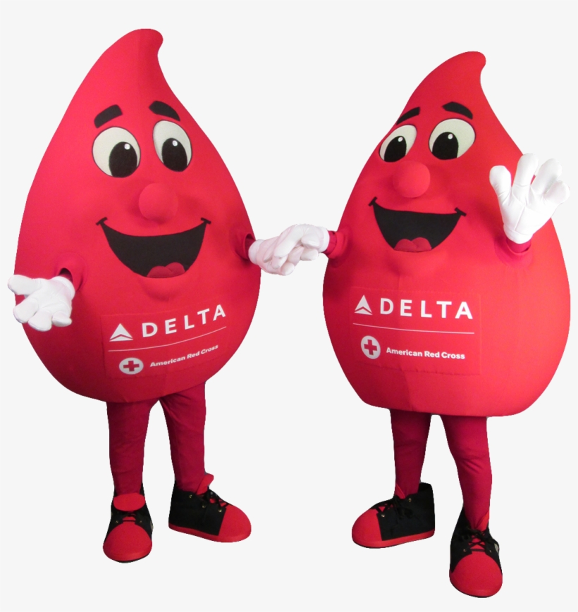 Buddy The Blood Drop - Canadian Blood Services Mascot