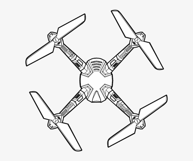 Hd Video Drone Complete Body Titanium - Drawing Transparent