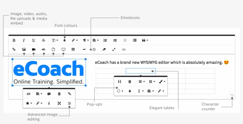 Ecoach Has A New Wysiwyg Text Editor And Not Only Is