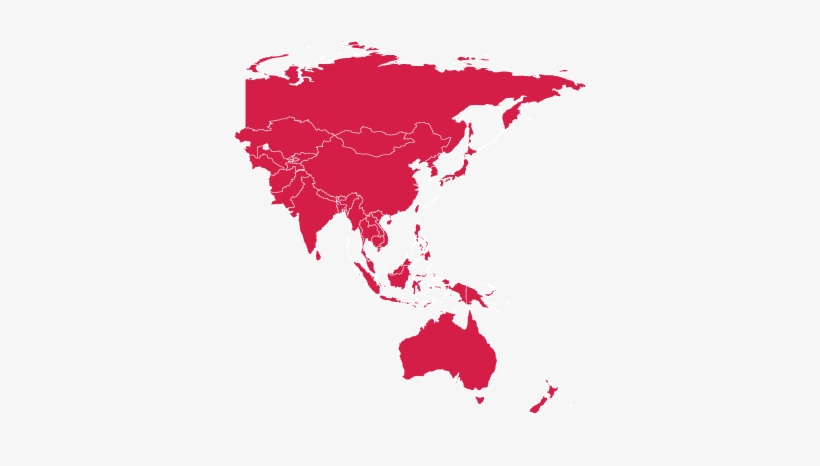 Map Of Asia Png.Africa Asia Pacific Red Asia Pacific Map Transparent Png 885x421