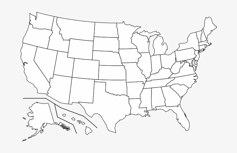 R Transparent Us States Map - High Resolution Blank Us Map ...