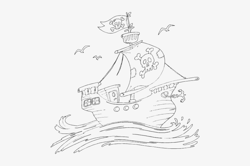Pirate Ship Pirate Ship Coloring Pages Transparent Png 488x467 Free Download On Nicepng