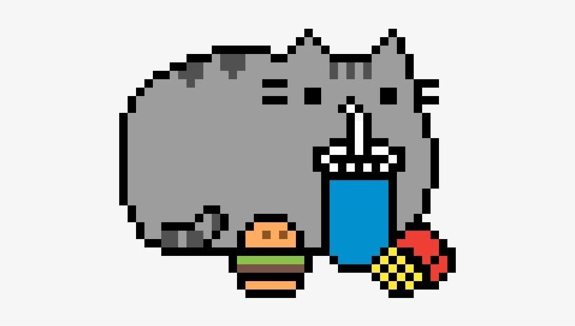 Pusheen Pusheen Pixel Art Minecraft Transparent Png
