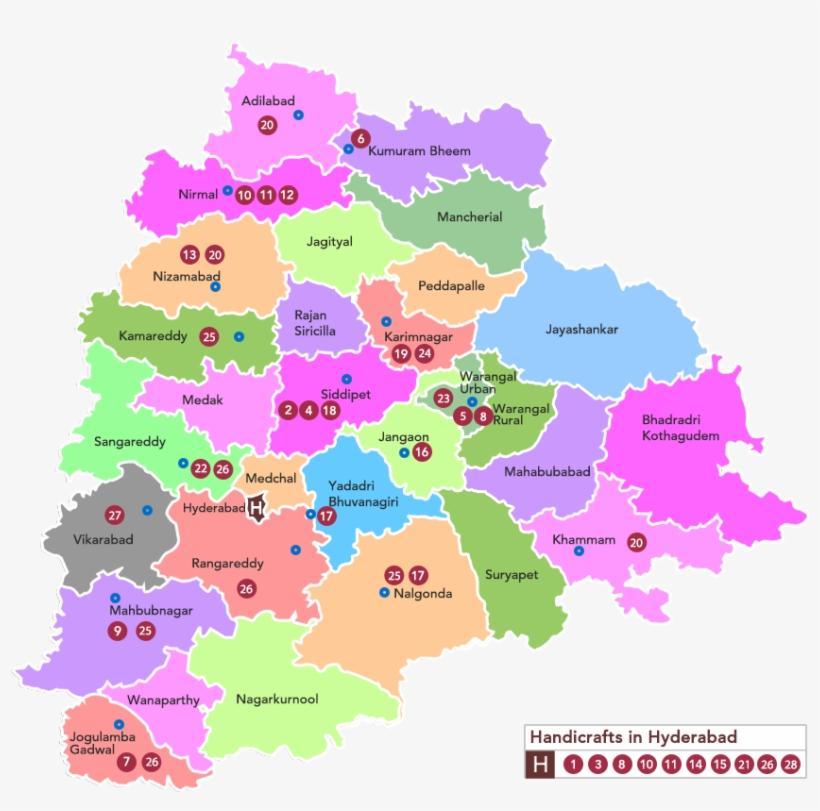 Golkonda Handicrafts Cluster Map Various Handicrafts With Location
