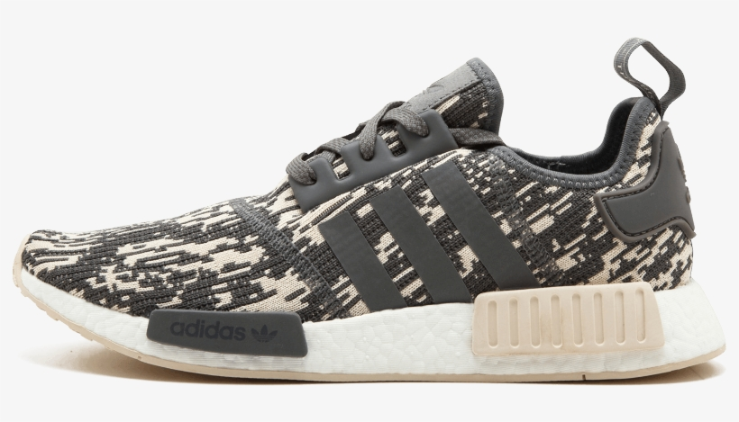 71646b4d1 Adidas Nmd R1 12 Shoes Core Grey   Core Beige Cq0858 Transparent PNG ...