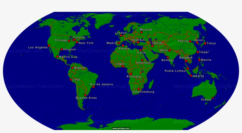 Show A Map Of The World.Show Map Jakarta On World Map Transparent Png 1920x1080 Free
