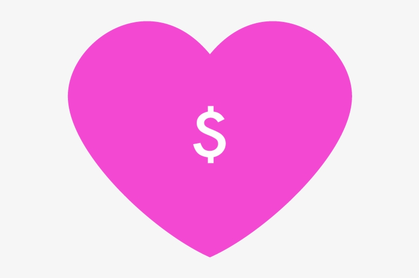 Homepage Icon Donate - Pink Heart Icon Transparent