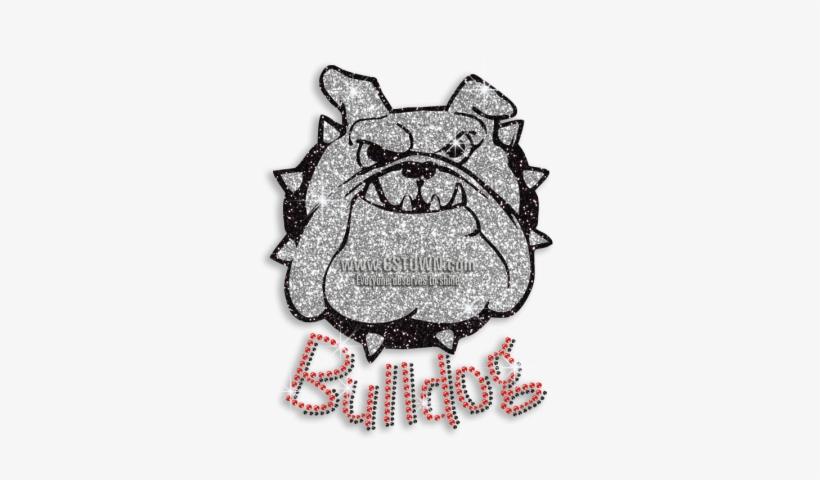 foto de Cool Bulldog Face Glitter Iron On Rhinestone Transfer - Bulldog ...