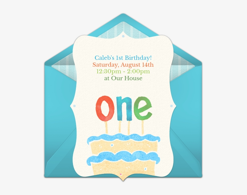 First Birthday Cake Online Invitation