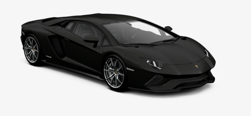 Lamborghini Aventador S Matte Black Transparent Png 1100x441