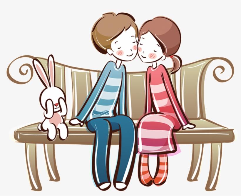 Pintado A Mano De Dibujos Animados De Enamorados Png 醜男情事 5