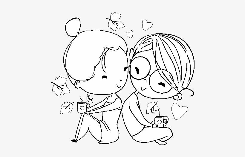 Dibujo De Dos Jóvenes Enamorados Para Colorear Dibujos Para