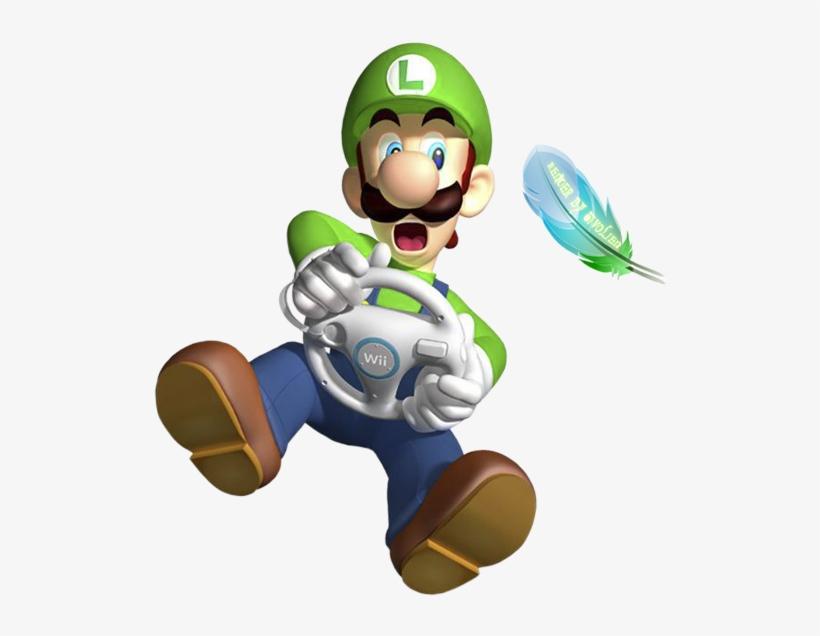 391 Render Luigi Mk Wii Mario Kart Wii Transparent Png 575x575