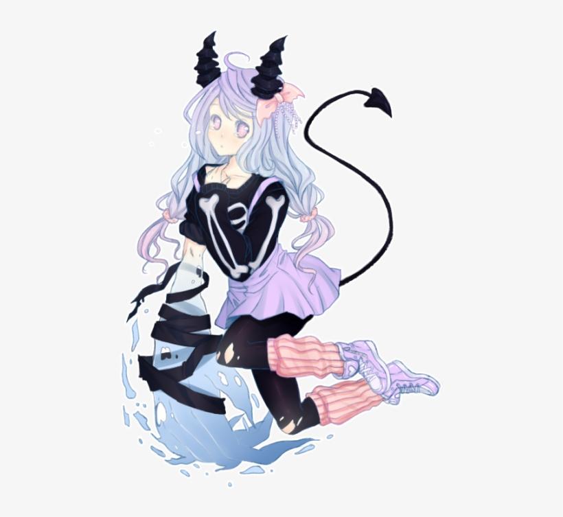 Pastel Goth Tumblr Anime Transparent PNG - 500x705 - Free