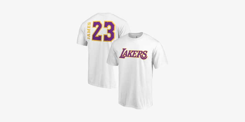 low priced 2806f fe3c0 Los Angeles Lakers Lebron James Side Sweep Player V-neck ...