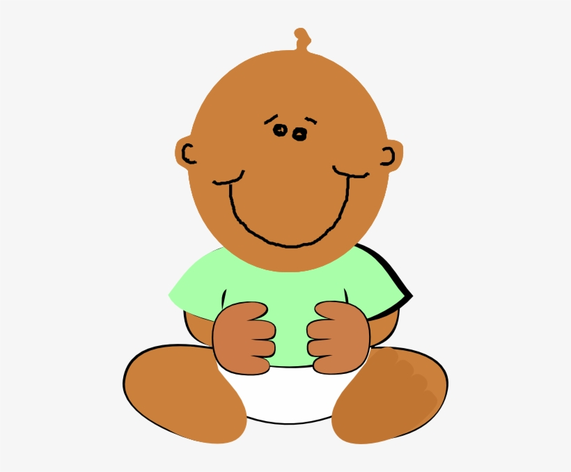 Black Baby Clip Art At Clker African American Baby Clipart Transparent Png 468x598 Free Download On Nicepng