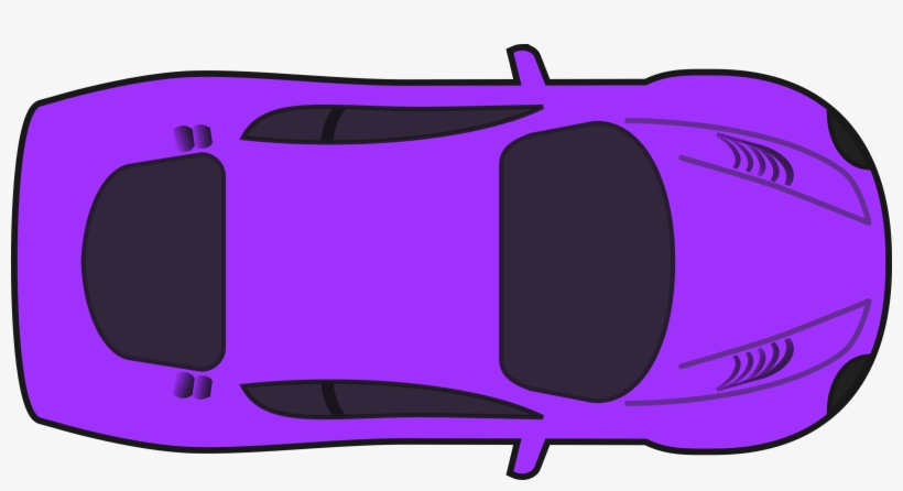 Purple Racing Car Vector Stock Car Clipart Top View Transparent