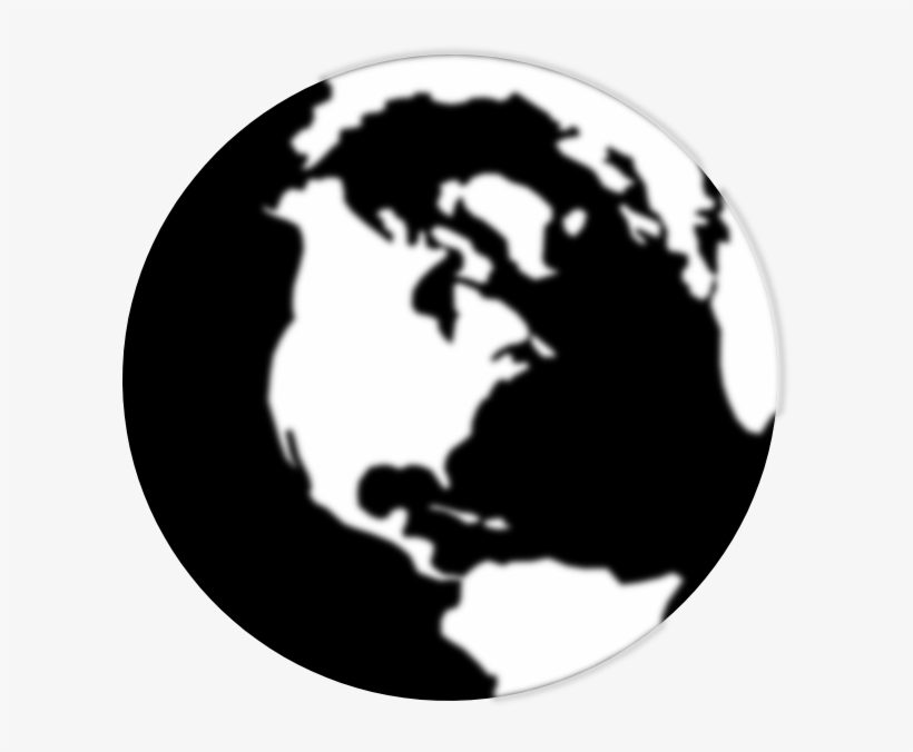 Black And White Globe Icon Transparent PNG - 600x596 - Free