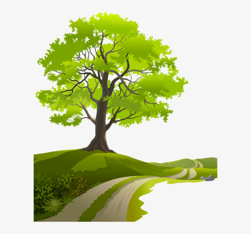 Tree Clipart Spring Tree Nature Vector Page Borders Clip Art