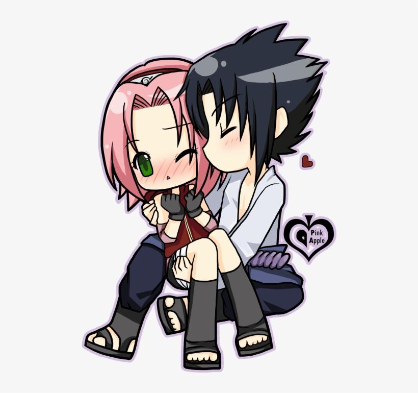 Sasuke And Sakura Chibi Transparent PNG - 500x690 - Free Download on