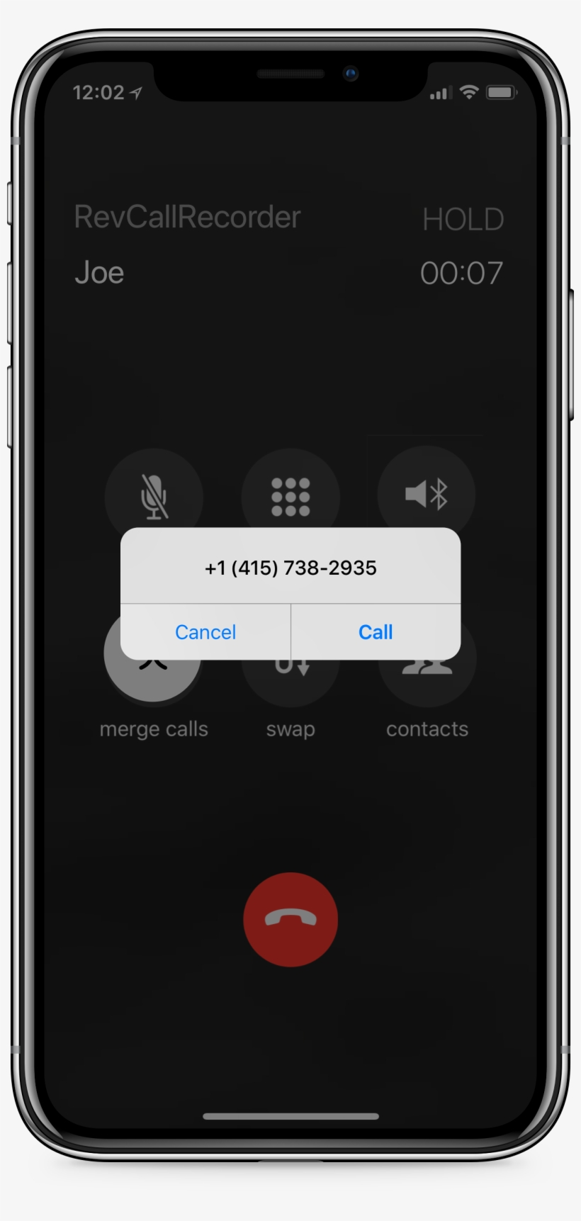 Iphone Using Rev Call Recorder App To Record A Call - Rev com