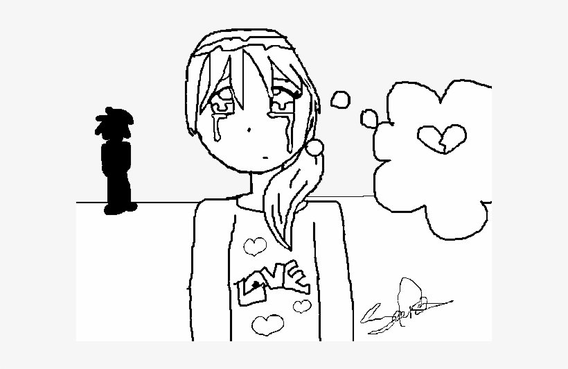 Crying Little Girl Coloring Page Desenhos De Meninas Chorando