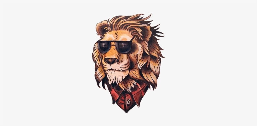 Lion Tattoo Neo Traditional Lion Transparent Png 360x360 Free