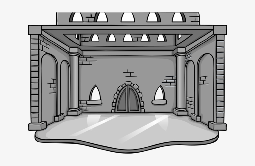 Grey Ice Castle - Club Penguin Igloo Transparent PNG