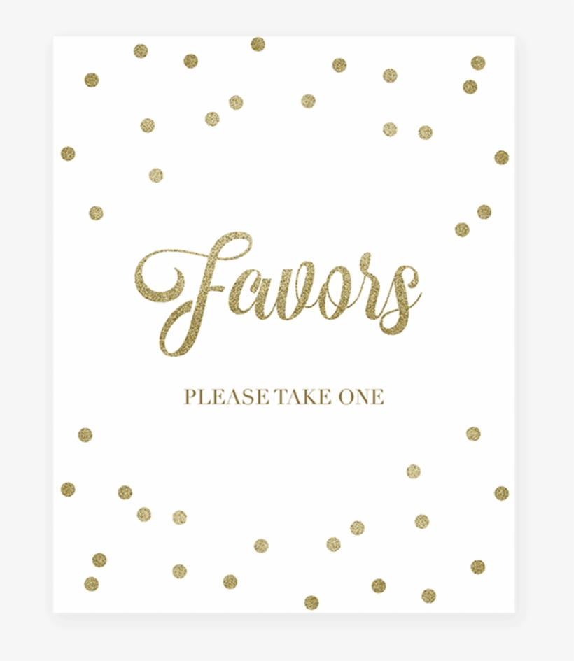 picture regarding Please Take One Sign Printable named Gold Themed Bash Decor Favors Signal Printable As a result of