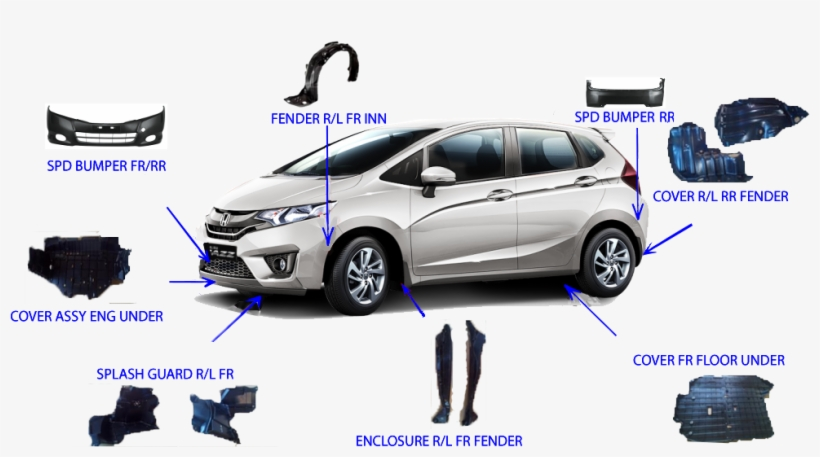 Car Parts Parts Of Four Wheeler Transparent Png 1000x500 Free