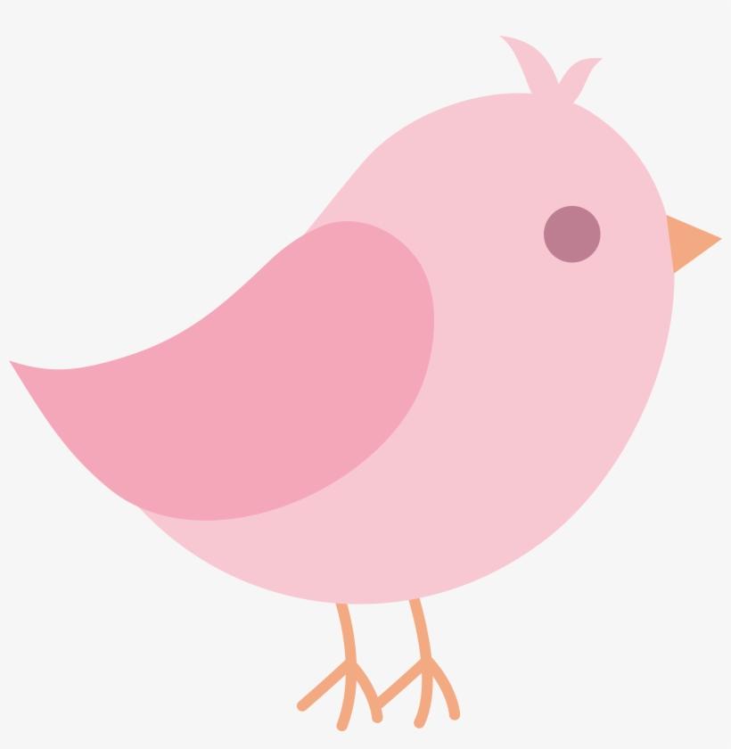 Bird pink. Love clip art cute