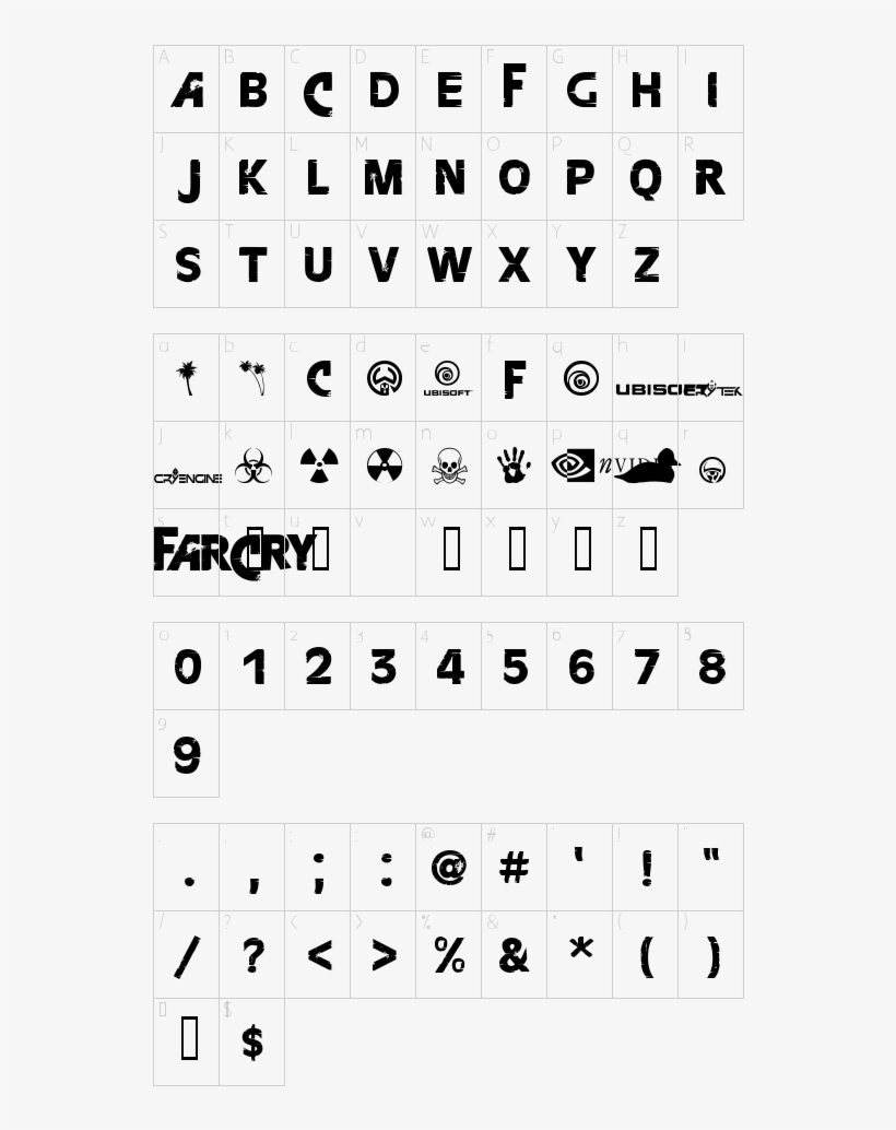 Character Map - Font Elle Futura Free Download Transparent