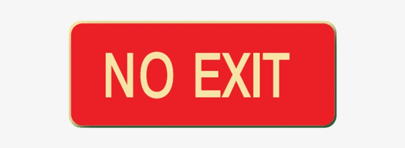 Brady Glow In The Dark And Standard Floor Sign Red - Exit
